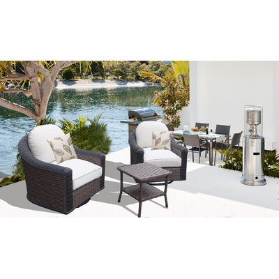 Gaia 3 Piece Deep Seating Group with Cushions