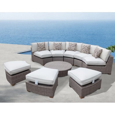 Nantucket 9 Piece Deep Seating Group with Cushion