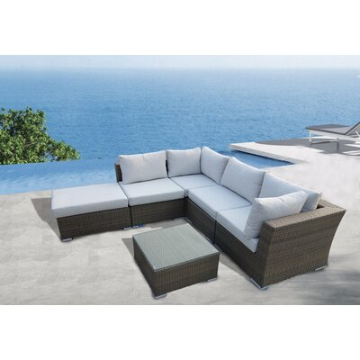 KQ Maui 6 Piece Sectional Seating Group with Cushions