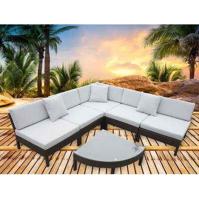 Diego 6 Piece Sectional Seating Group with Cushions