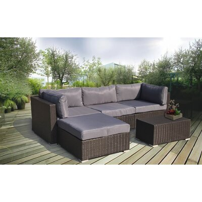 Galina Premium 5 Piece Sectional Seating Group with Cushions