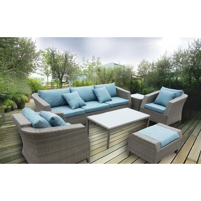 Honeycutt 6 Piece Deep Seating Group with Cushion