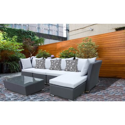 Honeycutt 6 Piece Rattan Deep Seating Group with Cushion