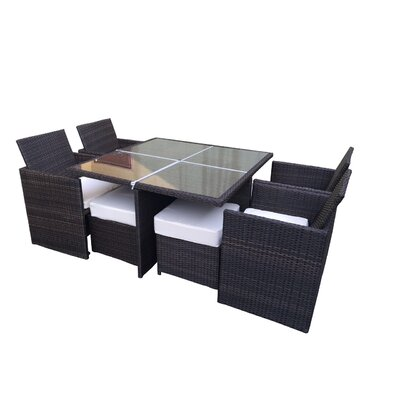 Galina 9 Piece Dining Set with Cushions