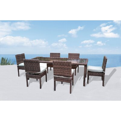 Dutil Premium 7 Piece Dining Set with Cushions