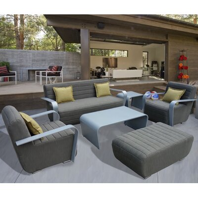 Gregoria 5 Piece Deep Seating Group with Cushion