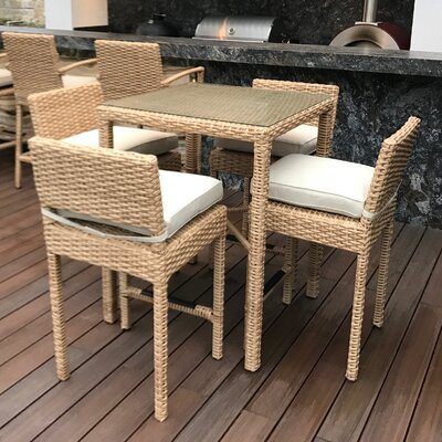 Dutil Premium 5 Piece Pub Table Set