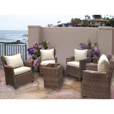 Dutil 5 Piece Deep Seating Group with Cushion
