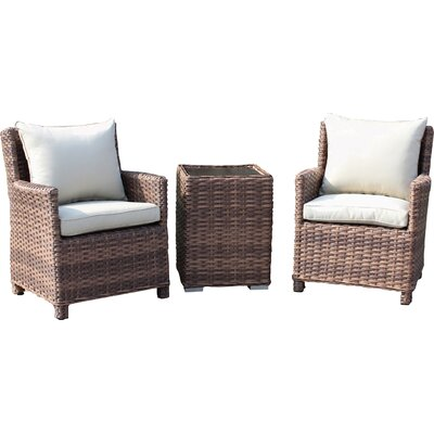 Dutil Couples 3 Piece Deep Seating Group with Cushions