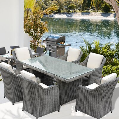 Dutil New Deluxe 7 Piece Dining Set with Cushion