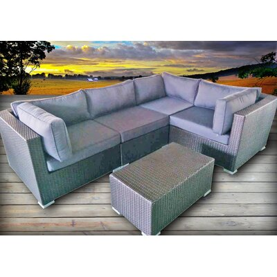 Hopson 5 Piece Sectional Seating Group with Cushions