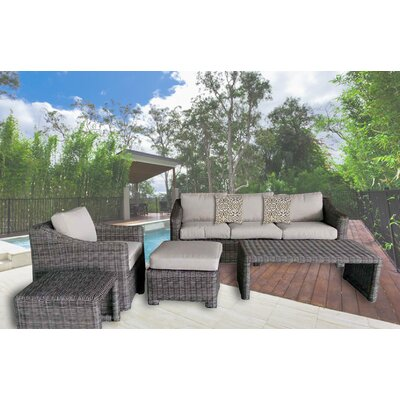 Morley 5 Piece Deep Seating Group with Cushion