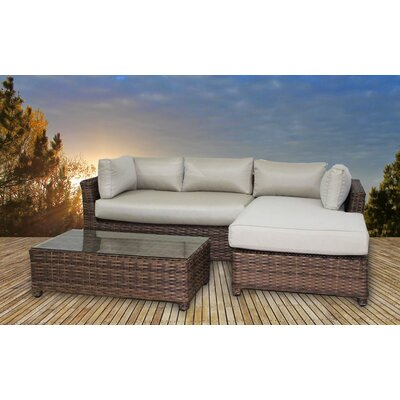 Deluxe 3 Piece Deep Seating Group with Cushion