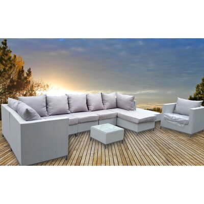 Unique and Modern 10 Piece Sectional Seating Group with Cushions