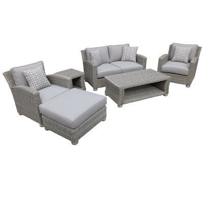 Gardiner Premium 6 Piece Deep Seating Group with Cushions