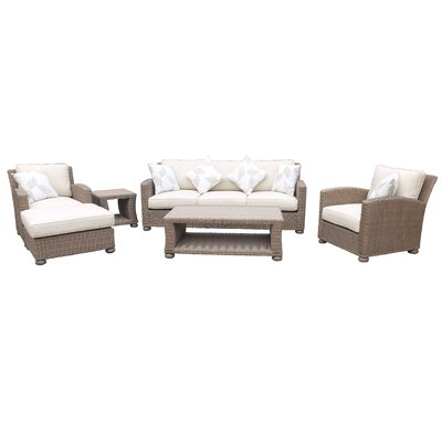 Harvey Lush and Stylish 6 Piece Deep Seating Group with Cushions