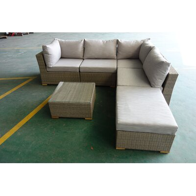 Hillside 6 Piece Deep Seating Group with Cushions