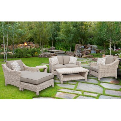 Gia Assembled 6 Piece Sofa Seating Group with Cushion