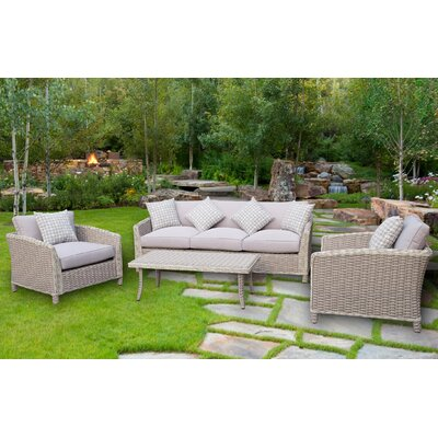 Spafford 4 Piece Deep Seating Group with Cushion