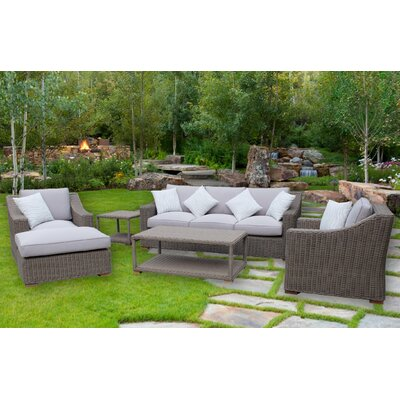 Brokaw 5 Piece Deep Seating Group with Cushion