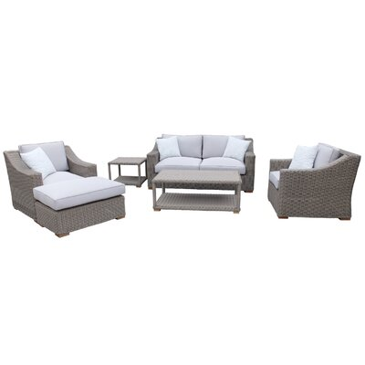 Brokaw 6 Piece Deep Seating Group with Cushions