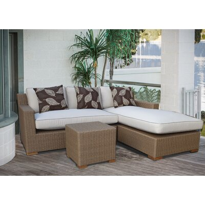 Galen 3 Piece Deep Seating Group with Cushions