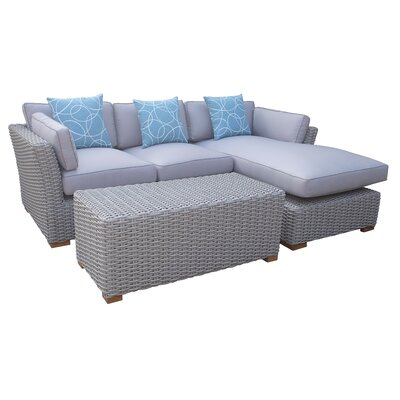 Key Largo 3 Piece Seating Group with Cushions