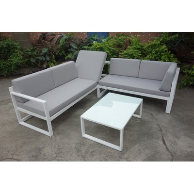 Jimmie 3 Piece Seating Group with Cushions