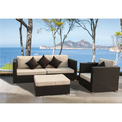 Gearldine Elegant 3 Piece Deep Seating with Cushion