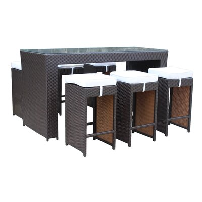 Dutil Modern 7 Piece Pub Table Set
