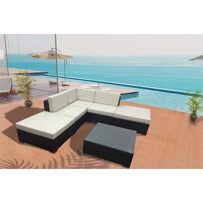 Deckside Plush 6 Piece Deep Seating Group with Cushion