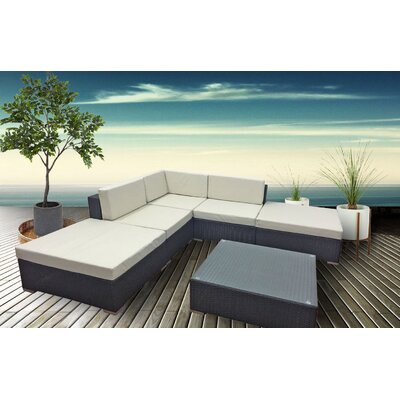 Anette 6 Piece Deep Seating Group with Cushion