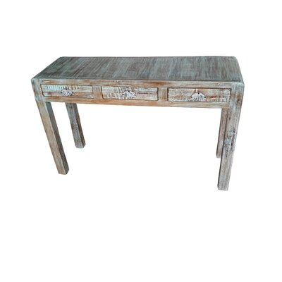 Bilbo Hand Painted Console Table Finish: Teal