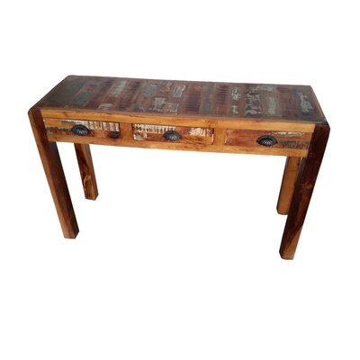 Bilbo Hand Painted Console Table Finish: Rich Brown