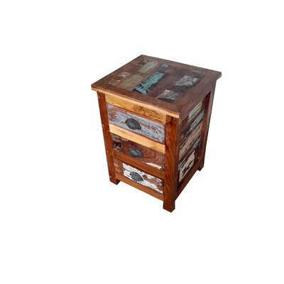 Binney Hand Painted End Table Finish: Rich Brown