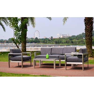 Chip Deluxe Overstuffed Sleek 4 Piece Conversation Set