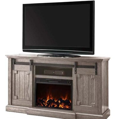BaoBao Media Electric Fireplace TV Stand Finish: Gray
