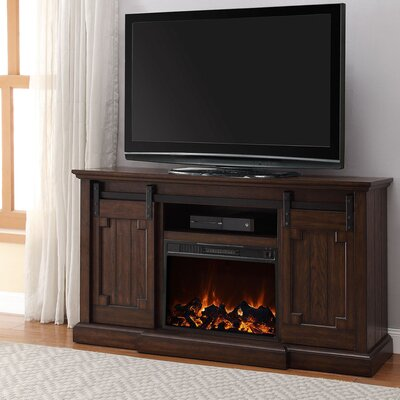 BaoBao Media Electric Fireplace TV Stand Color: Walnut