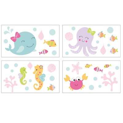 Sea Sweetie 4 Piece Wall Decal Set