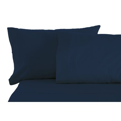 Solid Sheet Set Size: Split King, Color: Navy
