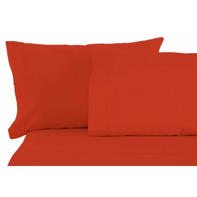 Modern Sheet Set Size: King, Color: Pumpkin
