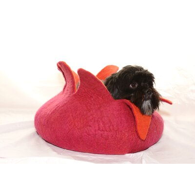 Pet Basket Color: Pink/Orange