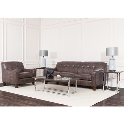 Daly Leather Configurable Living Room Set