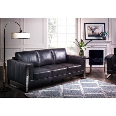 Olivarez Top Grain Leather Configurable Living Room Set