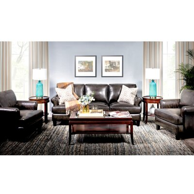 Chicoine Top Grain Leather Configurable Living Room Set