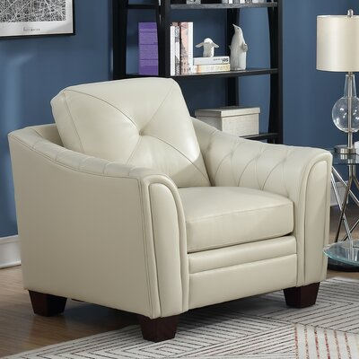 Chiang Club Chair Upholstery: Ivory