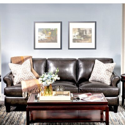 Chicoine Top Grain Leather Standard Sofa