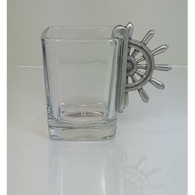 Ship's Wheel Hook 2 oz. Shot Glass BS47