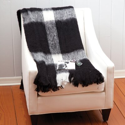 Woven Brushed Throw Color: White/Black/Ivory