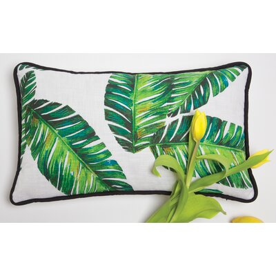 Botanical Leaf Lumbar Pillow